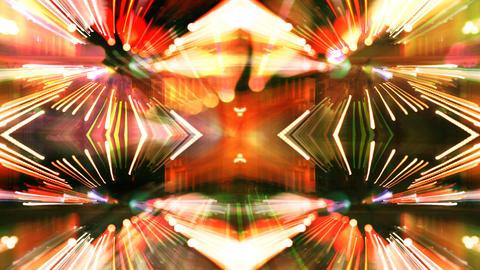 Warping mirror lights Filmmaterial