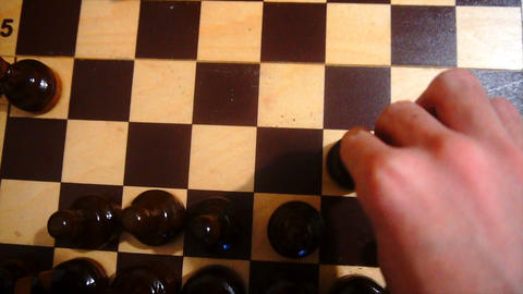 playing chess slow motion Footage