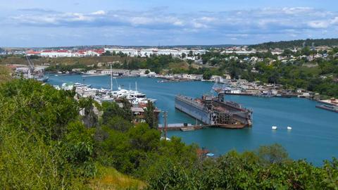 Sea port in the bay city 2 영상물