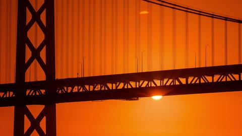 Time Lapse - Sunrise over Bay Bridge, San Francisco Footage