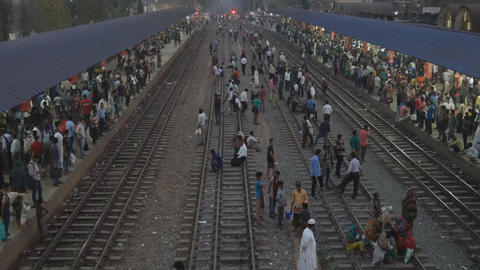 railway station in India Footage