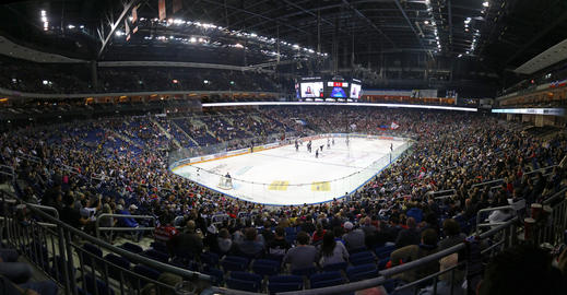 Mercedes-Benz Arena in Berlin during ice-hockey game Photo