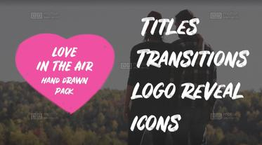 Love In The Air. Hand Drawn Pack Premiere Pro Template
