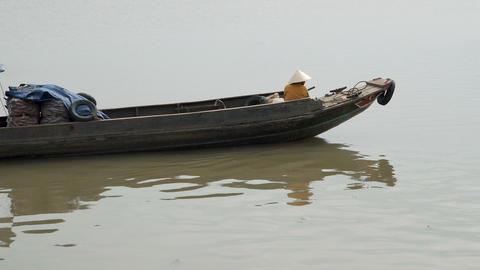 Vietnamese people in boat Footage