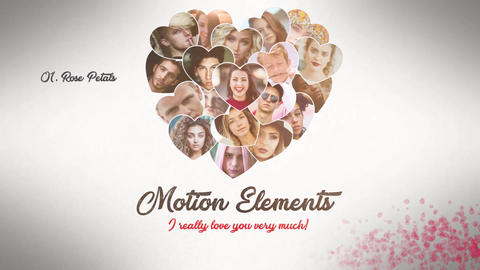 Photo Heart Valentines Premiere Pro Template