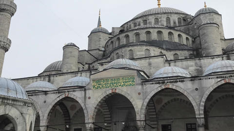 Hyperlapse of Sultan Ahmed Blue Mosque in Istanbul, Turkey - one of the most Footage