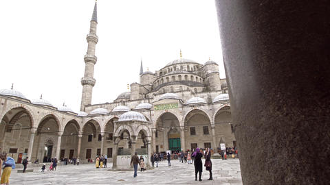 Sultan Ahmed Mosque. Blue Mosque in Istanbul Footage