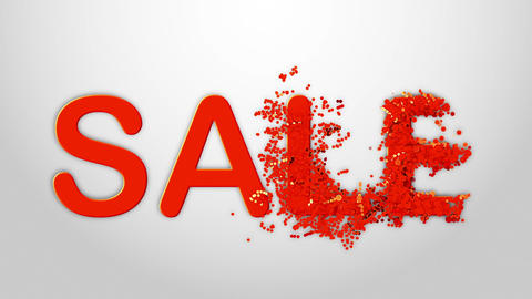 Sale Text. Sale Banner Template Design. Shine backdrop for flyer CG動画素材