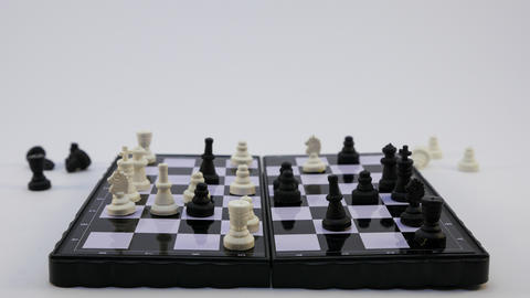 Chess game isolated on a white background フォト