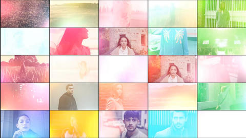 50 Light Leaks & Transitions After Effects Template