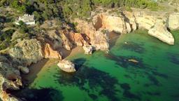 Colorful landscape of ocean coast ビデオ