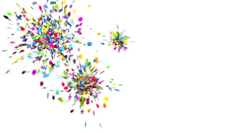 Confetti Party Popper Explosions on a Green Background Animación