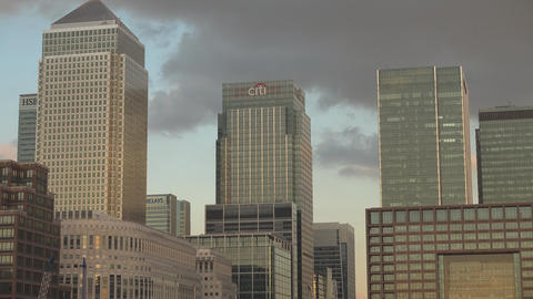 The financial district of Canary Wharf - LONDON,ENGLAND FEBRUARY 20, 2016 Live Action