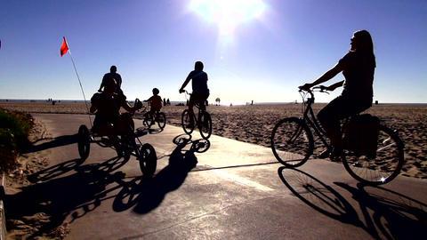 Bikers at Venice beach California – LOS ANGELES, CALIFORNIA NOVEMBER 8,2012 Live Action