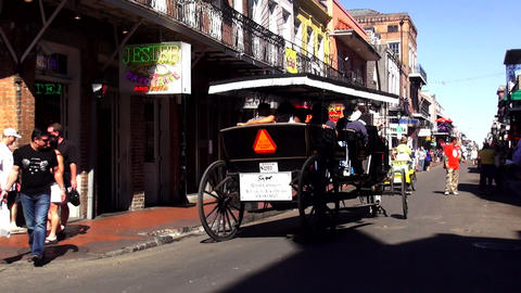 New Orleans French Quarter horse drawn cab – NEW ORLEANS, LOUISIANA/USA OCTOBE Footage