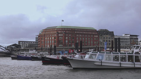 Hamburg harbor - HAMBURG, GERMANY DECEMBER 23, 2015 Live Action