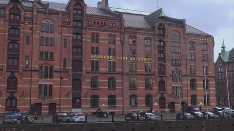 Hamburg Port Authority - HAMBURG, GERMANY DECEMBER 23, 2015 Footage