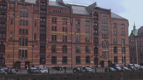 Hamburg Port Authority - HAMBURG, GERMANY DECEMBER 23, 2015 stock footage