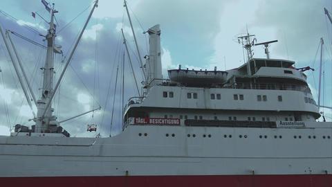 Cap San Diego at Hamburg harbor - HAMBURG, GERMANY DECEMBER 23, 2015 Footage