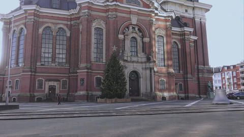 Famous St. Michaelis Church in Hamburg called Michel - HAMBURG, GERMANY DECEMBER Footage