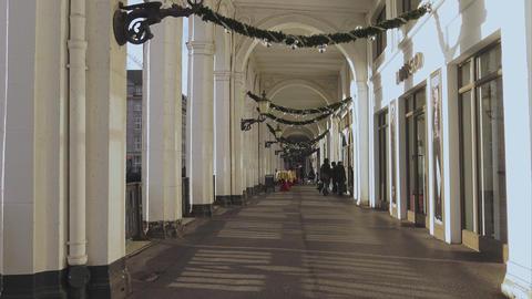 Alster Arcades in Hamburg Alsterarkaden - HAMBURG, GERMANY DECEMBER 23, 2015 Footage