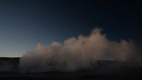 Geyser in Uyuni, Bolivia Footage