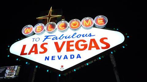 Welcome to Fabulous Las Vegas by night - LAS VEGAS, NEVADA/USA Footage