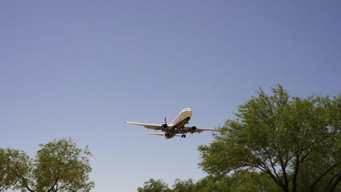 Delta Airlines airplane on approach for landing - LAS VEGAS, NEVADA/USA Live Action