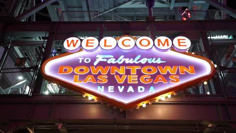 Welcome to Fabulous Downtown Las Vegas - LAS VEGAS, NEVADA/USA Footage