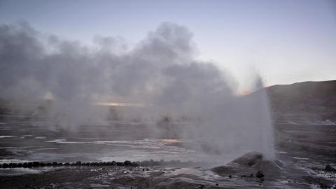 Early Morning Geyser Footage