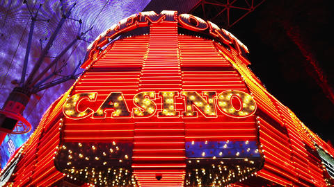 The Casinos of Downtown Las Vegas - LAS VEGAS, NEVADA/USA Live Action