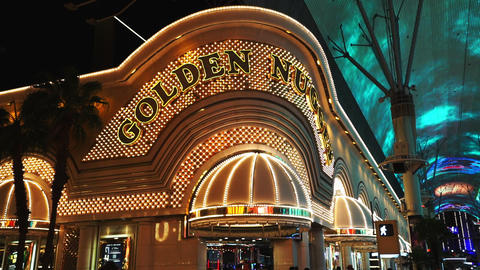 Famous Golden Nugget Hotel and Casino - LAS VEGAS, NEVADA/USA Footage