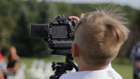 small cameraman captures nature Footage