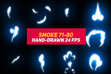 Liquid Elements Smoke 71-80 After Effects Template