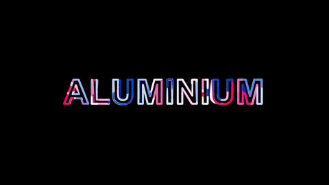 Letters are collected in Element of periodic table ALUMINIUM, then scattered Animation