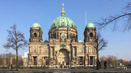 Time Lapse: Tourists At Berliner Dom On Museum Island In Berlin Footage