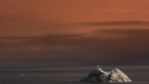 Icebergs in the British channel Footage
