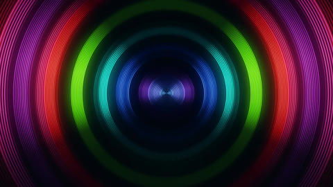 Colorful Round Circular Waves Tunnel VJ Loop Motion Background V2 Image