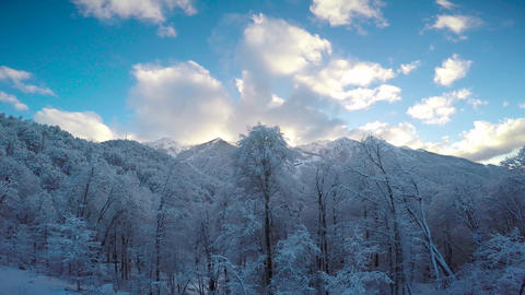 "Caucasian mountains. Ski resort ""Rosa Khutor"". Sochi. Russia Live Action"