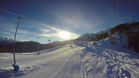 "Caucasian mountains. Ski resort ""Rosa Khutor"". Sochi. Russia Image"