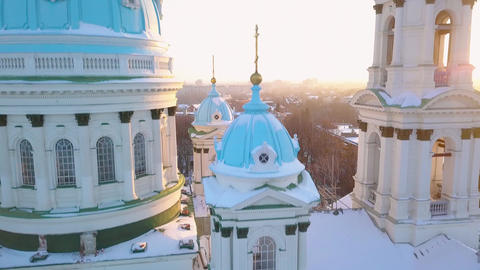 Aerial view of the Trinity Orthodox Cathedral. Sumy, Ukraine Archivo