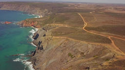 Terrain on cliffs of coastline Footage