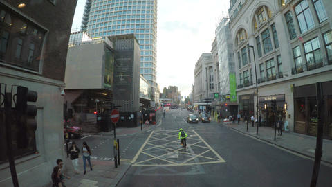 LONDON JULY 2017: Timelapse forward view form bus window visiting british street Live Action