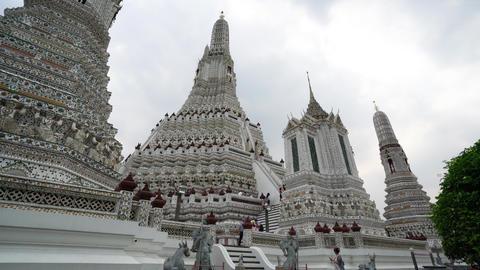 Wat Arun temple in Bangkok Footage