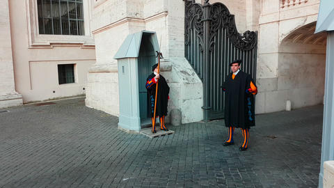 The Pontifical Swiss Guard Footage