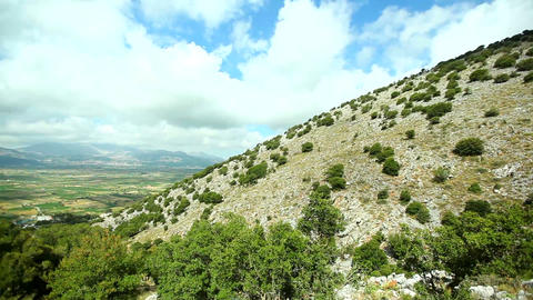 Mountainous landscape . Visit to the monasteries and churches of Greece 영상물