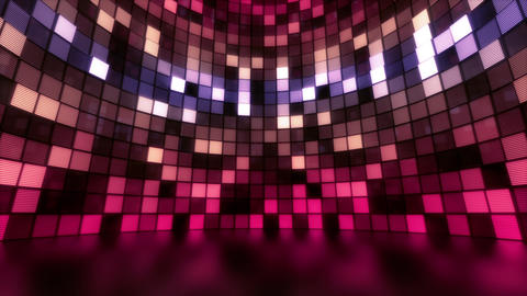 Neon Tiles Light Stage Revolving - Pastel Color - Flicker Animation