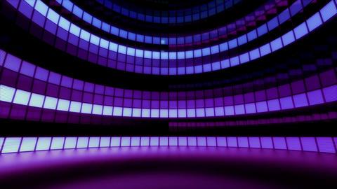 Neon Tiles Light Stage Revolving - Retro Future Purple - Horizontal Lines Animation