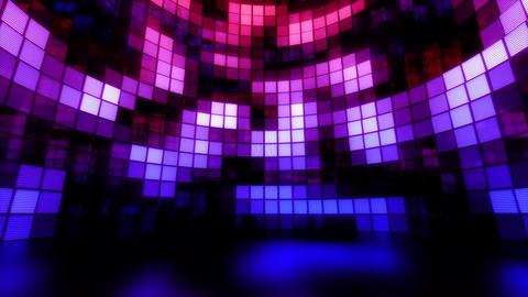 Neon Tiles Light Stage Revolving - Retro Future Purple - Random Patern01 Animation