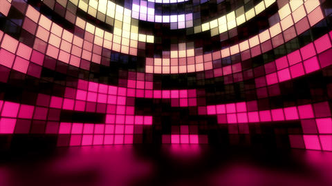 Neon Tiles Light Stage Revolving - Pastel Color - Random Patern02 Animation